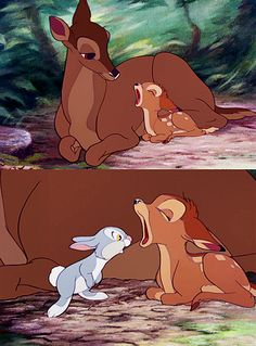 5) Bambi (1942) watched 1/31/14 ~I have always found it funny that Thumper looks in Bambi's mouth!
