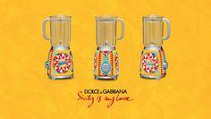 frullatore #DGSMEG #DGSICILYISMYLOVE Smeg e Dolce & Gabbana