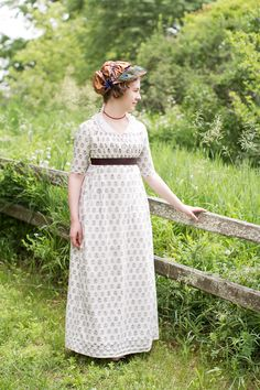 Regency Block-Printed Gown · Mode de Lis