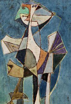 Afro Basaldella (1912-1976) was een Italiaans kunstschilder. Afro's werk is beïnvloed door Pablo Picasso en Georges Braque en hij kwam tot een soort lyrisch-abstract neokubisme, waarbij hij de traditionele illusie van de ruimte verwierp. Zijn werk wordt gedomineerd door tekenachtige vormen die uit het onderbewuste lijken voort te komen.