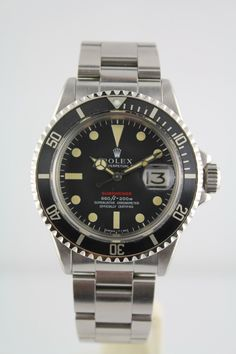 1970 Red Line Submariner Reference #1680 in absolutely amazing shape! This baby barely saw the light of day. The patina on the dial is excellent! The bracelet is a later 70's solid link but all else is original! I have this in stock now!