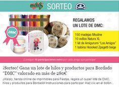 Gran sorteo de DMC compuesto de algodón natura, trapillo, kit amigurumis y 150 madejas de algodón mouliné!! http://b.dry.lt/nexu61