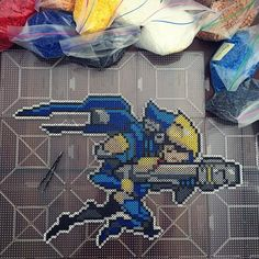 Pharah - Overwatch perler beads by lumosmaxima_