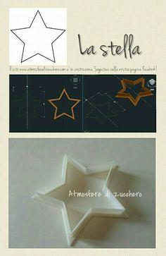 La stella _ The star | Tagliabiscotti personalizzati _ Custom cookies cutters