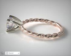 Engagement Ring Voyeur: A David Yurman Cable Engagement Ring Imposter