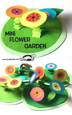 MINI FLOWER GARDEN (krokotak) - Angela Bombaci - The Effective Pictures We Offer You About Decoupage videos A quality picture can tell you many things. Kids Crafts, Summer Crafts, Toddler Crafts, Kindergarten Art, Preschool Crafts, Diy Y Manualidades, Garden Crafts, Garden Kids, Garden Art