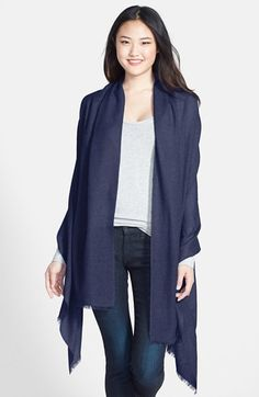 $65, Wool Cashmere Scarf by Nordstrom. Sold by Nordstrom. Click for more info: http://lookastic.com/women/shop_items/156175/redirect