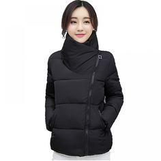 4e59ad8df87f Stand Collar Winter Jacket Women Solid Stylish Womens Basic Jackets Outwear  Autumn Short Coat Jaqueta Feminina