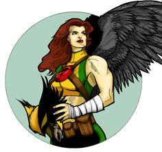 Hawkgirl by headlight