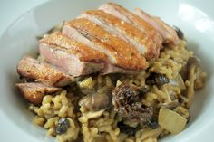 Tender sous-vide duck with a rich wild mushroom risotto. Need we say more?