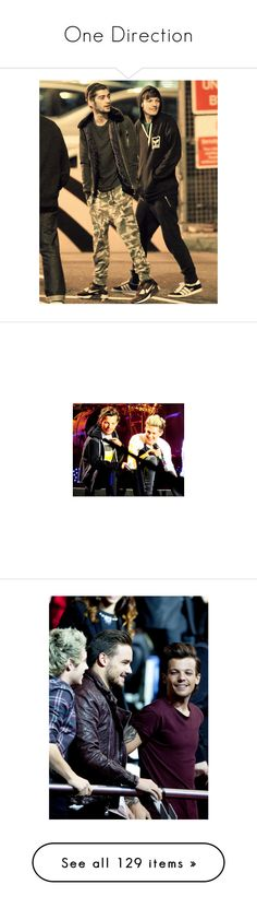 """""""One Direction"""" by msgrungegirl ❤ liked on Polyvore featuring one direction, zayn, zouis, 1d, fotos, people, louis, pictures, louis tomlinson and photos"""