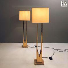 Zwei große repräsentitive Stehleuchten aus den 1970er Jahren. Jetzt auf www.19west.de  #19west #vintage #design #furniture #möbel #designklassiker #fifties #sixties #seventies #modernist #midcentury #wohndesign #vintagemöbel #vintagedesign #retromöbel #lamps #leuchten #messing #marmor