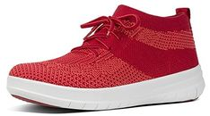 FitFlop Uberknit Slip-On High Top Sneakers Classic Red Classic Red - Chaussures fitflop (*Partner-Link) High Top Sneakers, Slip On Sneakers, Adidas Sneakers, Clogs, Fitflop, Workout Wear, Partner, High Tops, Shopping