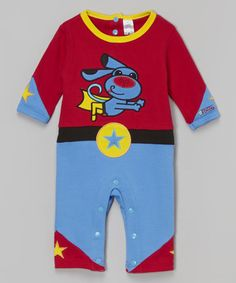 Love this Blue & Red SuperHero Dog Romper - Infant by Sozo on #zulily! #zulilyfinds