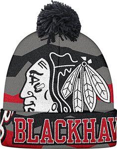 best sneakers c31a6 32b5d Chicago Blackhawks Pom Hat Hockey, Ebay Sports, Chicago Blackhawks, Fan  Gear, Knitted