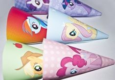 My Little Pony print and cut cones!