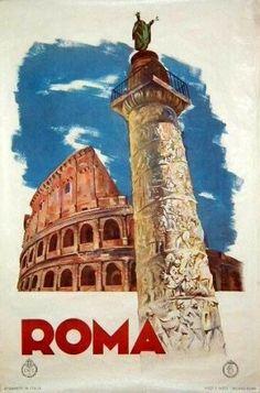 Vintage travel poster: Rome