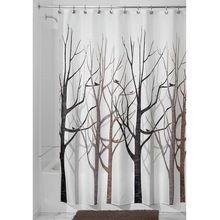 Стильный всплеск водонепроницаемой ткани ванная комната дерево пейзажи дома занавески для душа / ванной продукт бесплатная доставка(China (Mainland))