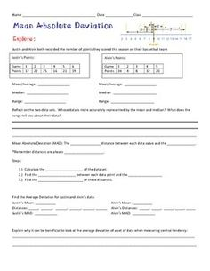 Printables Mean Absolute Deviation Worksheet 1000 images about absolute deviation on pinterest the 4 page resource introducing students to mean will start by exploring data