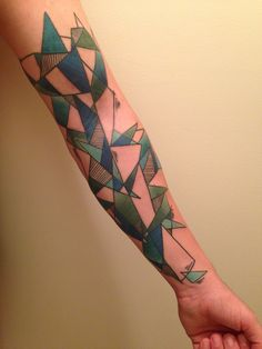 Geometric tattoo #tattoo #geometric