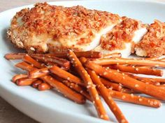 Going to have to try this: Pretzel and Beer Mustard Chicken Breasts