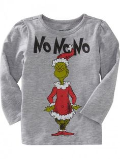 Old Navy Dr Seuss The Grinch Tees For Baby | Gray