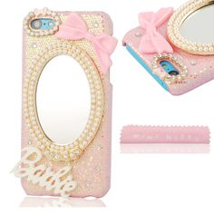 Mini kitty-Handmade Luxury 3D Mirror & Bow barbie letter Diamond Crystal Bling Pink Case Cover for iphone 5c. Introduction : 100% hand made This is a Luxury Deco Case for your cell phone, very sweet and cute All accessories are strongly attached with our special glue and not easy to fall. Easy to snap on the case, no tools or any assembly needed Protect your Phone from scratching, dust and collisions Package included: 1X case (cellphone not included ) 1X free microfiber cloth .