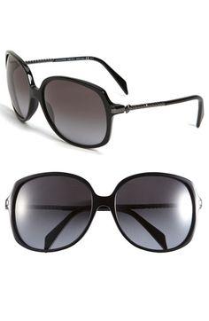 Alexander McQueen Skull Temple Oversized Sunglasses