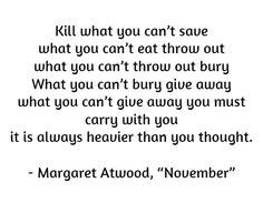 "Margaret Atwood, ""November"""
