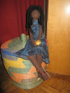 """Natural Hair Dolls. """"Contentment"""". Black Crafters Guild"""