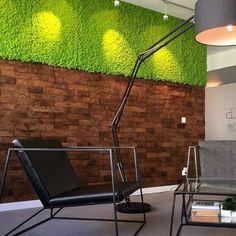 Kork vegg fra WALL-IT forbedrer akustikk og gir et trendy uttrykk Cork Wall, Wall Design, Brick, Lighting, Home Decor, Decoration Home, Room Decor, Lights, Bricks