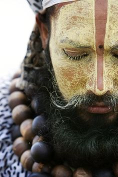 Indian Sadhus such as the one pictured here are a common site at the pilgrimages in India.