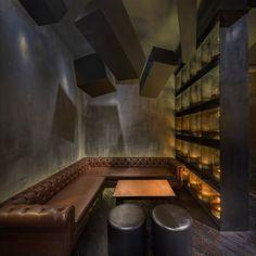 Cube ceiling Flask & The Press alberto caiola