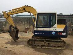 KOMATSU PC60-6 excavator, 6 ton Komatsu PC60 tracked excavator Small Excavator, Excavator For Sale, Repair Manuals, Caterpillar, Military Vehicles, Tractors, Mini, Pdf, Army Vehicles