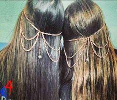 Cadenas Para El Cabello/cadenas Griegas Bs.F.100 Rhdl1 - Precio D Venezuela Hair Chains, Hair Jewels, Fairy Jewelry, Diy Halloween Costumes, Body Jewelry, Headbands, Boho Fashion, Hair Beauty, Hair Accessories