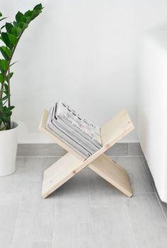 L'idée déco du samedi : Fabriquer en porte-revues en bois