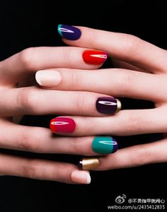 great fall colors! #colorful #nails #nailart  -tuckerjstyle