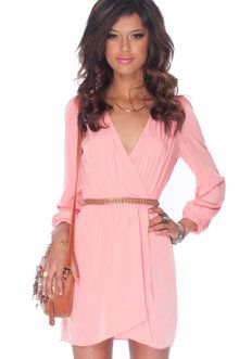 It's a Wrap Dress in Pink