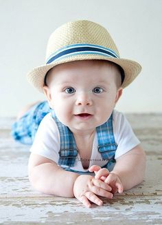 baby boy wearing hat soooo cute!         #cute #baby