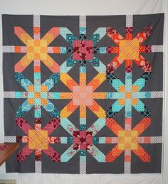 Super Nova quilt top by freshlypieced.  Love this.  It looks both vintage and modern at the same time!