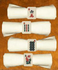 Mah Jongg Napkin Rings