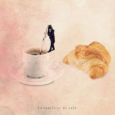 Paris Cafe Art Photography Food photography by PhotographyDream, Digital Art Photography, Funny Photography, Artistic Photography, Kitchen Humor, Kitchen Art, Funny Kitchen, Parisian Decor, Cafe Art, Coffee Photos