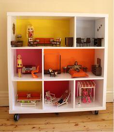 ikea shelf dollhouse.