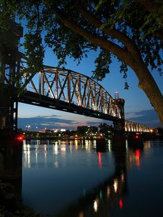 Junction Bridge, Little Rock, Arkansas - former railroad bridge turned into a great pedestrian walkway.   #South #Southern