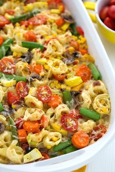 this looks REALLY good Creamy Tortellini Vegetable Bake