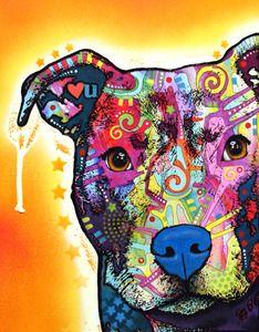 """Dean Russo """"Heart U"""" Pit Bull print. $20 #pitbull #dogparkpublishing"""