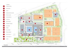 Image 23 of 23 from gallery of Wifaq Sport Center / Architectes. Gym Interior, Interior Architecture, Interior Design, Swimming Pool Architecture, Landscape Diagram, Sport Hall, Crossfit Gym, Sports Complex, Sports Clubs