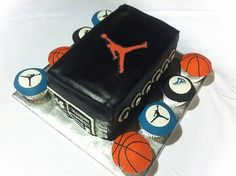 Air Jordan Basketball Cakes and Cupcakes Best Picture For Basketball Cake kit kat For Your Taste You are looking for something, and it is going to tell you Basketball Birthday, Jordan Basketball, Basketball Cakes, Basketball Party, Basketball Stuff, Sports Birthday, Basketball Pictures, 13th Birthday, Birthday Cakes