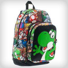 Nintendo Yoshi Eject Backpack Mario Nintendo, Mario Bros., Mario And Luigi, Super Smash Bros, Super Mario Bros, Yoshi, Custom Purses, Otaku, Image Fun