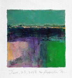Jan 23 2013  Original Abstract Oil Painting  by Hiroshi Matsumoto